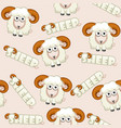seamless pattern square cartoon white shee vector image
