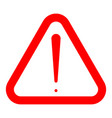 sign of attention red icon vector image