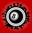 number eight bingo lottery ball on crowd border vector image vector image