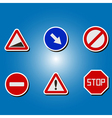 color icons with traffic signs vector image