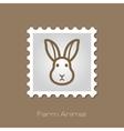Rabbit stamp Animal head vector image