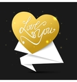 Love you Happy Valentines Day Flyer Valentines vector image
