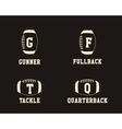 American football badge monograms with players vector image