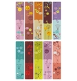 Floral Bookmarks vector image