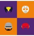 Halloween Costume Masks vector image