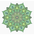 Hand drawn zentangle lace green pattern vector image