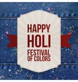 Holi Color Festival striped Banner with Ribbon vector image