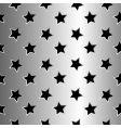 metallic stars texture vector image