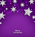 Purple Abstract Celebration Background with Silver vector image