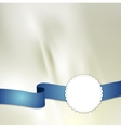 Tape and label on light silk background vector image