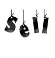 Sale tags black vector image