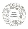 set of scuba diving vector image