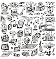 Technology devices Science - icons vector image vector image
