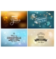 Light bokeh magic Christmas lights - backgrounds vector image vector image