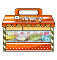 A bakery selling baked goods vector image