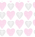 Pattern pink and gray heart vector image