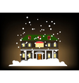 house in winter style with snow vector image