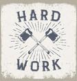 lumberjack style emblem vector image