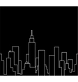 Silhouette of the cityscape vector image
