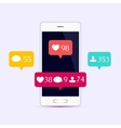 Social media set vector image