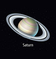 solar system object saturn on vector image