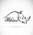 Rhino design vector image