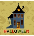 Halloween haunted house card vector image vector image