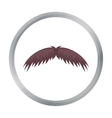 Man s mustache icon in cartoon style isolated on vector image