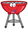 Red Barbecue Cartoon Mascot Character vector image vector image