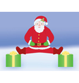 Santa Claus doing split vector image vector image