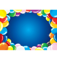 fesive background with balloon vector image vector image