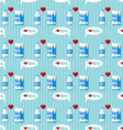 milk bottle and milk carton seamless pattern vector image