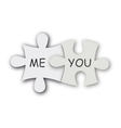 jigsaw puzzle as love symbol vector image