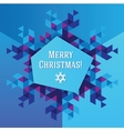 Business greeting christmas and New year card vector image