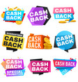 cash back sale banners with ribbons saving vector image