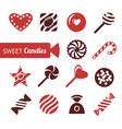 digital red brown sweet candies vector image