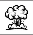 hand drawn sketch of a large nuclear explosion vector image