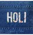 Holi realistic Banner with color Stains vector image