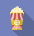 Icon of Popcorn Flat style vector image