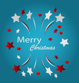 merry christmas typographic vector image