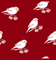 seamless pattern with a bullfinch vector image