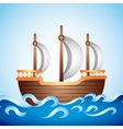 ship old design vector image