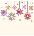 Snowflake flowers vector image