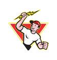Electrician Construction Worker Cartoon vector image vector image