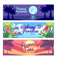 Happy summer travel time hawaii advertising vector image vector image