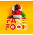 Word fast food background vector image vector image
