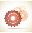 cogs gears background vector image vector image