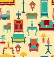 Vintage style home living furniture vector image