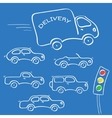 Cars sketches vector image