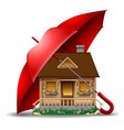 Safety of life and real estate vector image vector image